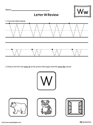 Letter W Review Worksheet