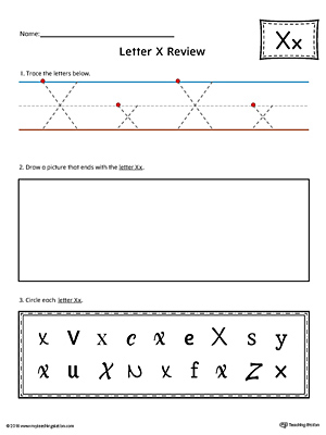 Letter X Practice Worksheet