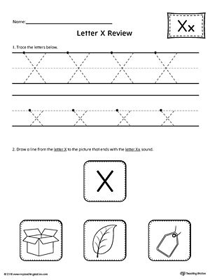 Letter X Review Worksheet