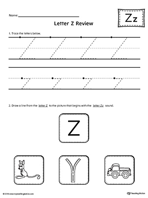 Letter Z Review Worksheet