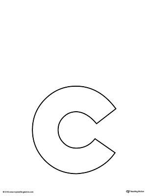 Lowercase Letter C Template Printable