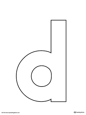 Lowercase Letter D Template Printable