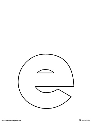 image relating to Letter E Printable titled Lowercase Letter E Template Printable