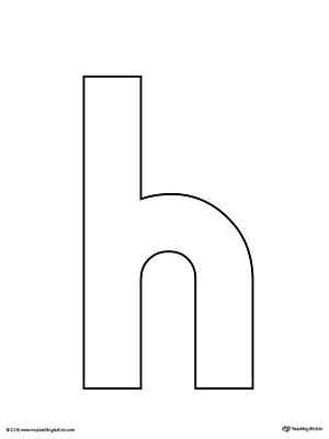 graphic relating to Letter H Printable referred to as Lowercase Letter H Template Printable