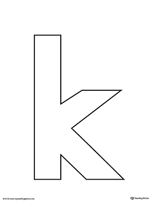 image about Letter K Printable identified as Lowercase Letter K Template Printable