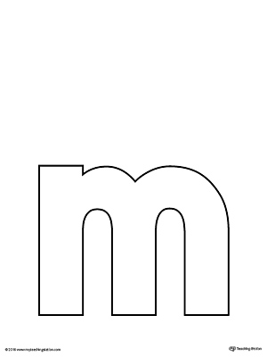 graphic relating to Letter M Printable referred to as Lowercase Letter M Template Printable