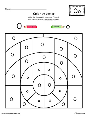 Number Names Worksheets lowercase letter worksheets : Lowercase Letter O Styles Worksheet | MyTeachingStation.com