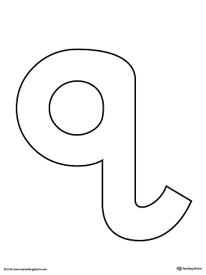 Lowercase Letter Q Template Printable