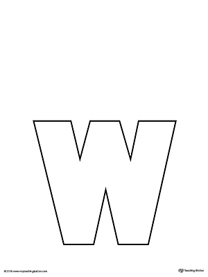 Lowercase Letter W Template Printable | MyTeachingStation.com