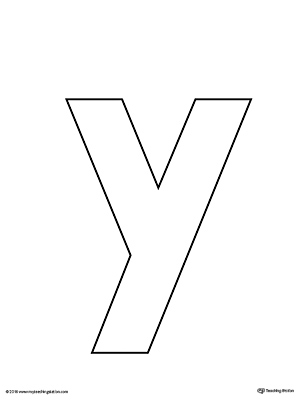 Lowercase Letter Y Template Printable