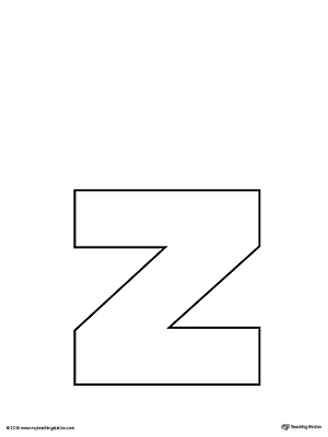 Lowercase Letter Z Template Printable