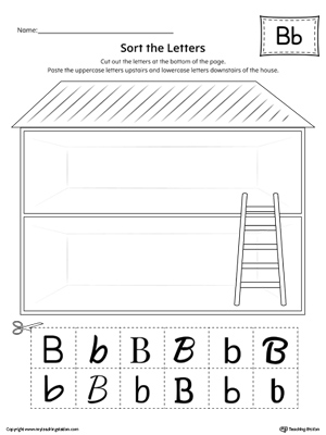 Sort the Uppercase and Lowercase Letter B with this printable worksheet. Download a copy today!