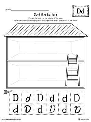 Sort the Uppercase and Lowercase Letter D Worksheet