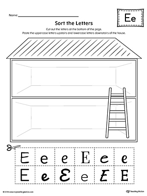 Sort the Uppercase and Lowercase Letter E Worksheet