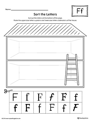 Sort the Uppercase and Lowercase Letter F Worksheet