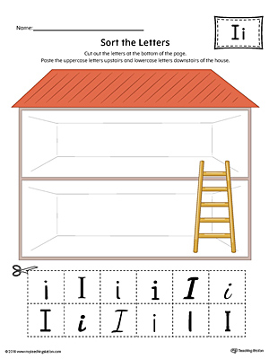 Sort the Uppercase and Lowercase Letter I Worksheet (Color)