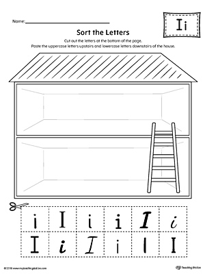 Sort the Uppercase and Lowercase Letter I Worksheet