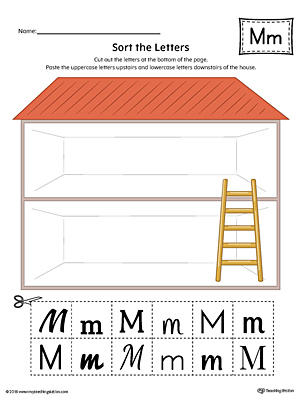 Sort the Uppercase and Lowercase Letter M (Color) with this printable worksheet. Download a copy today!
