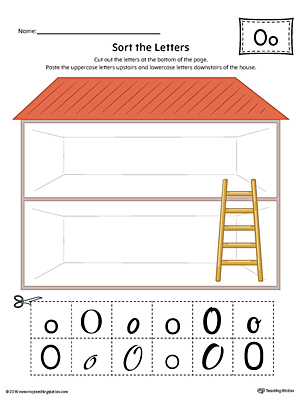 Sort the Uppercase and Lowercase Letter O Worksheet (Color)