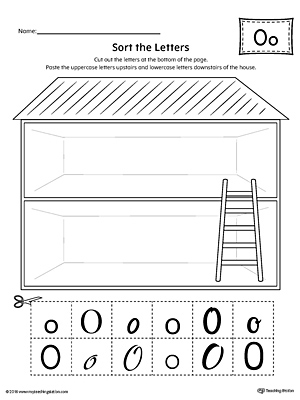 Sort the Uppercase and Lowercase Letter O Worksheet