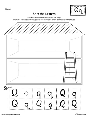 Sort the Uppercase and Lowercase Letter Q Worksheet