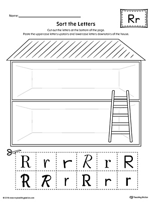 Sort the Uppercase and Lowercase Letter R Worksheet