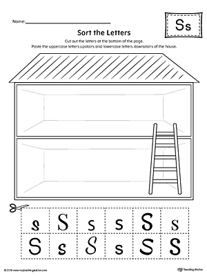 Sort the Uppercase and Lowercase Letter S Worksheet