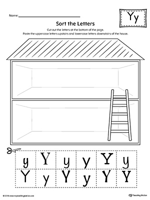 Sort the Uppercase and Lowercase Letter Y Worksheet