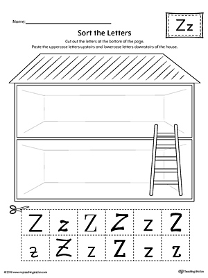 Sort the Uppercase and Lowercase Letter Z Worksheet