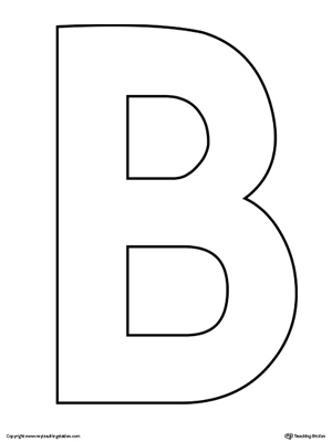 picture relating to Letter Printables known as Uppercase Letter B Template Printable