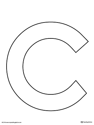 Juicy image within letter c printable template