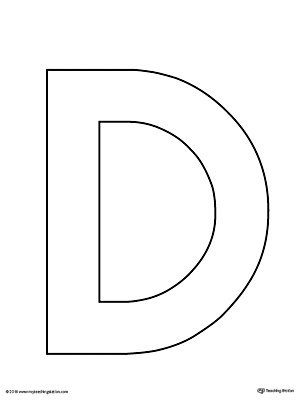 Uppercase Letter D Template Printable