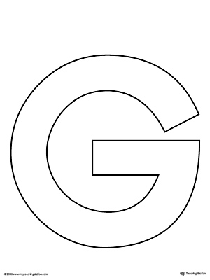 Uppercase Letter G Template Printable | MyTeachingStation.com