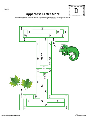 The Uppercase Letter I Maze in Color is an excellent worksheet for your preschooler or kindergartener to practice identifying the letters of the alphabet.