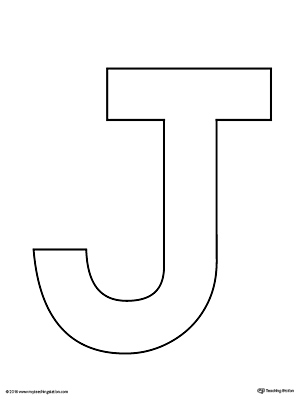 Uppercase Letter J Template Printable