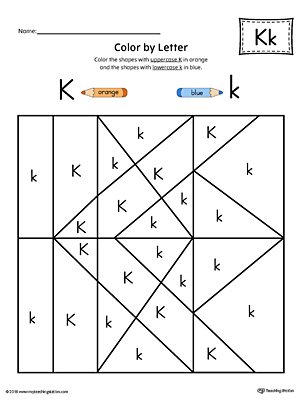 Letter K Styles Race Game | MyTeachingStation.com