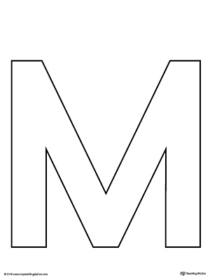image regarding Letter Stencils Printable identified as Uppercase Letter M Template Printable