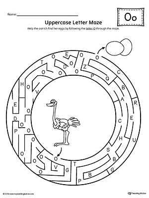 Letter O Tracing and Writing Printable Worksheet ...