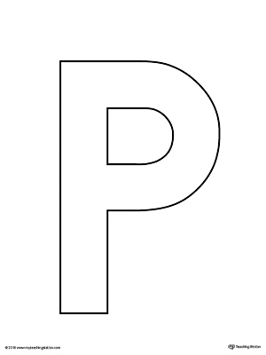 photograph relating to Printable Cutout Letters known as Uppercase Letter P Template Printable