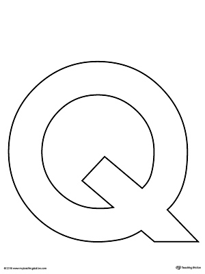 Uppercase Letter Q Template Printable