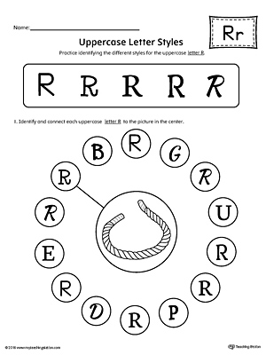 Lowercase Letter R Styles Worksheet | MyTeachingStation.com