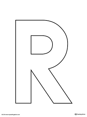 Uppercase Letter R Template Printable | MyTeachingStation.com