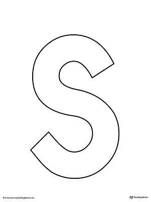 Uppercase letter s template printable for Printable alphabet book template