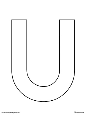 Uppercase Letter U Template Printable