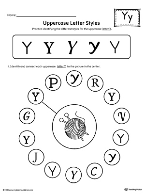 say and trace letter y beginning sound words worksheet. Black Bedroom Furniture Sets. Home Design Ideas