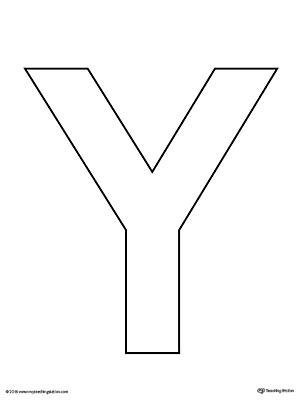 Uppercase Letter Y Template Printable