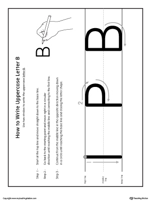 How to Write Uppercase Letter B Printable Poster