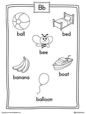 letter b beginning sound identification. Black Bedroom Furniture Sets. Home Design Ideas