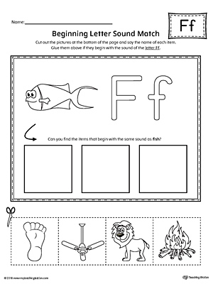 Learning the Letter F Worksheet | MyTeachingStation.com
