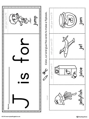 Letter J Beginning Sound Flipbook Printable ...